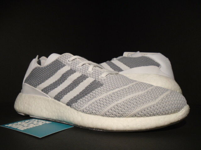 ADIDAS BUSENITZ PURE BOOST PK UNRELEASED SALES SAMPLE WHITE GREY ULTRA BB8376 9