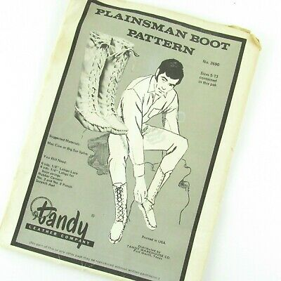 Plainsman Boot Pattern Pack New 62690-00 by Tandy Leather