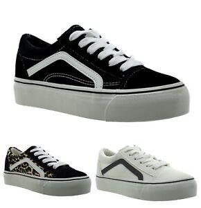 Dettagli su sneakers basse donna bianche sportive scarpe da ginnastica leopardate alla moda