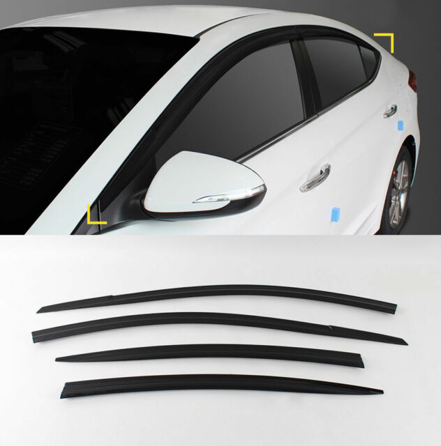 Smoke Rain Wind Sun Guard Window Visor Vent 4p for 2017 2019 Hyundai Elantra