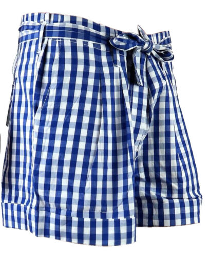 Benetton Damen Bermuda Shorts Karo Kurze Hose Kurzhose Hotpants Kariert Short 42