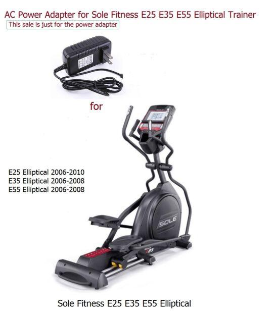 NEW AC Power Adapter For Sole Fitness E25 E35 E55 Elliptical 2006-2010 2006-2008