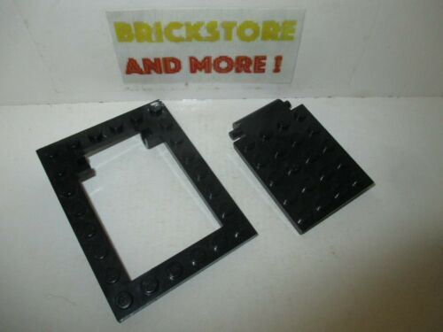 Lego 1x Plate Plaque 6x8 30041 4x5 trappe trap door 30042 Black//Noir//Schwarz