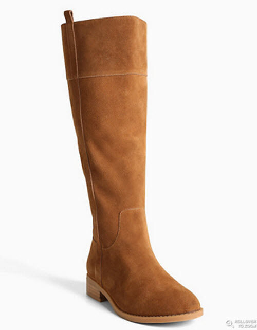 Torrid Size 11.5 Wide Width Calf Genuine Suede Brown Cognac Knee High Boots
