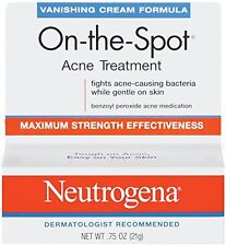 Neutrogena Vanishing Cream On-The-Spot Acne Treatment Max Strength .75oz Each