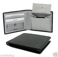 Starhide Mens RFID BLOCKING Quality Luxury Soft Leather Wallet 1050 - Black Grey