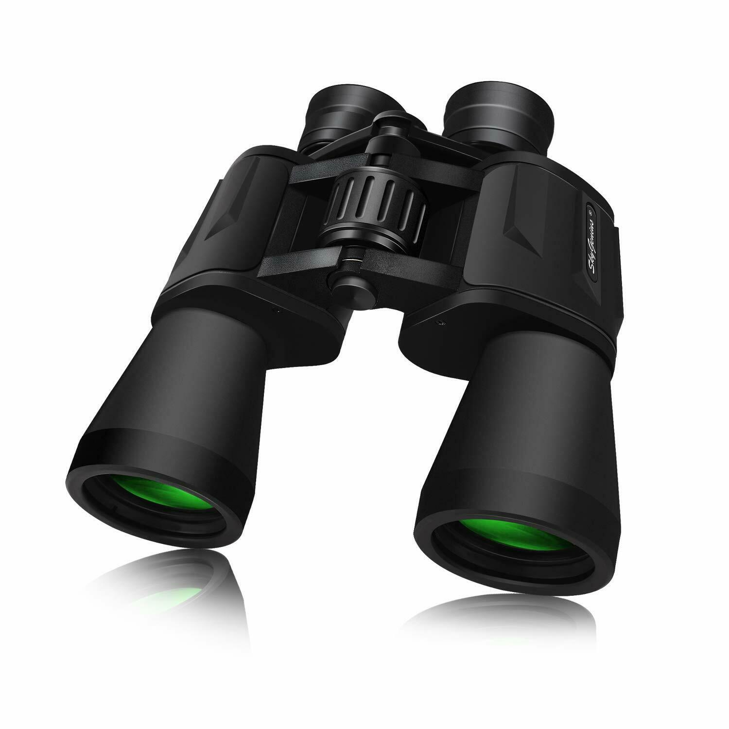 SHURUI 10x60 Binoculars for Adults Birdwatching Travel Sports Games Large Visual Range Waterproof Outdoor Sports with Strap Carrying Bag HD Binoculars for Kids with Low Light Night Vision