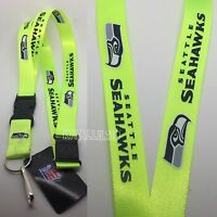 Nfl Seattle Seahawks Clip On Lanyard (neon Color)