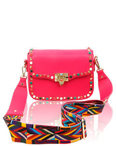 Image Is Loading Women 039 S Designer Stud Crossbody Handbag Shoulder