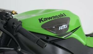 2013-636 R/&G RACING CARBON FIBRE  TANK SLIDERS Kawasaki ZX6-R TS0016C