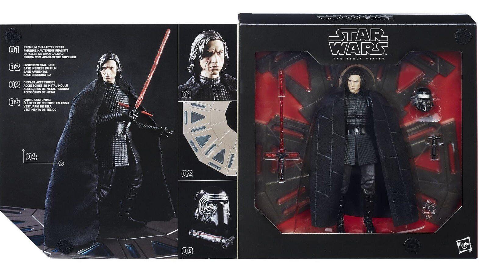 estrella guerras EP8 Jedi ULTIMA SERIE NERO Deluxe kylo REN Sala del Trono Base Nuovo Regno Unito