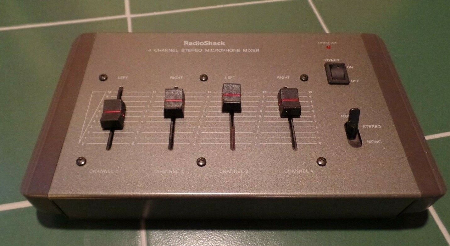 Radio Shack 32-1106 4-Ch Stereo Microphone Mixer. Available Now for 26.99