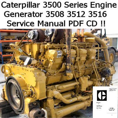 Caterpillar Engine 3508 3512 3516 Service Manual 8 12 16 Cylinder PDF Nice EBay