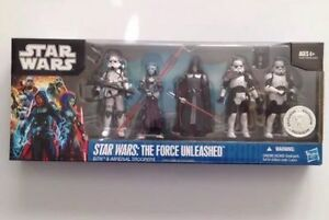 Star Wars Force Unleashed Sith & Imperial Troopers 5 pièces   Coffret Exclusif Tru