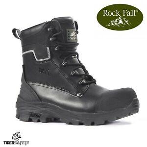 Rf15 y de con resistentes Black pierna seguridad S3 acero alta Fall Rock punta agua al Shale Botas de qZC4nw