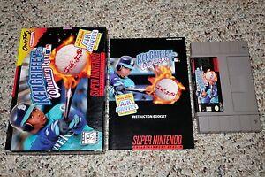 41f1de98a0 Ken Griffey Jr.'s Winning Run (Super Nintendo SNES, 1996) Complete ...