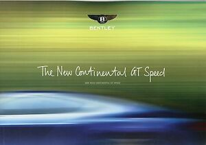 "BENTLEY ""The new Continental GT Speed"" Booklet - Deutschland - BENTLEY ""The new Continental GT Speed"" Booklet - Deutschland"