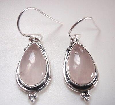 Garnet Teardrop with Silver Dot Accents 925 Sterling Silver Dangle Earrings