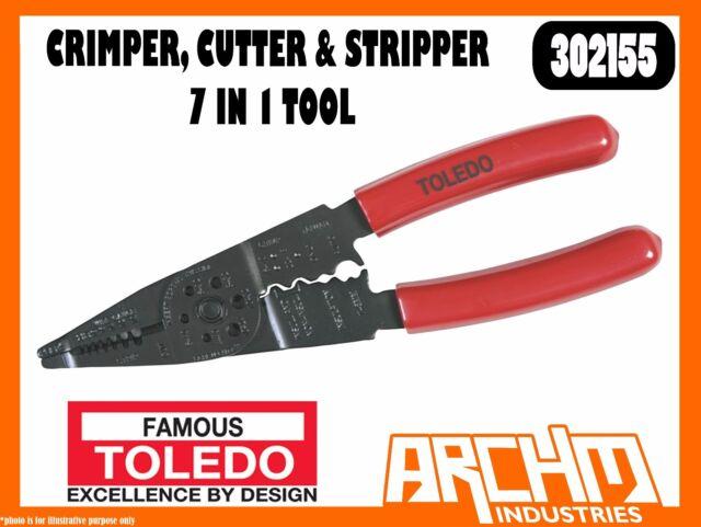 Cutter and Stripper TOLEDO Crimper 7 in 1 Tool 302155