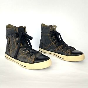 Levi s Zip Black Denim Hi-Top Canvas shoe kids size 5 or 7 in Womens ... c69d775ffc