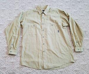EUC-Patagonia-Men-039-s-Cotton-Flannel-Long-Sleeve-Shirt-Sz-Medium-Color-Green