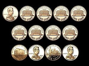 2000-2001-2002-2003-2004-2005-2006-2007-2008-2009-S-Lincoln-Mint-Proof-Set-of-13