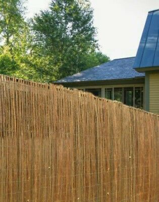 Natural Peeled Reed Screening Roll Garden Screen Fence Fencing Wooden 4m x 1m