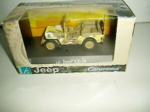 CARARAMA-JEEP-WILLY-039-S-CJ-2A-CAMOUFLAGE-SCALE1-43-NEW-OLD-STOCK-ITEM