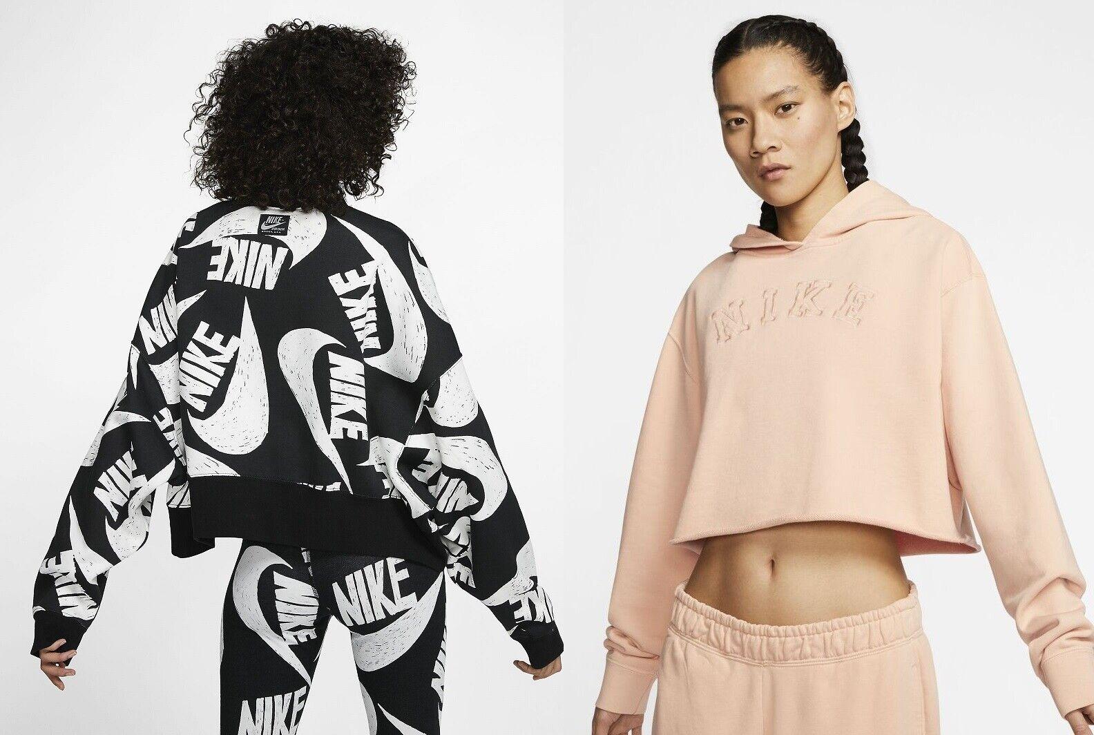 Nike Women's Trefoil Fleece cropped Hoodie Sportswear Crop top