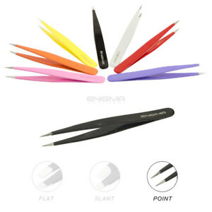 Professional-ENIGMA-Beauty-Hair-Pointed-Tip-Precision-Stainless-Steel-Tweezers