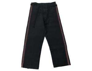 Vintage 70's Japanese Firefighter Sashiko Boro Indigo Uniform Noragi Pants Trous