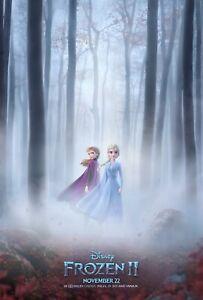 Frozen 2 Original Filmposter Zweiseitig Disney Advance Wald Stil