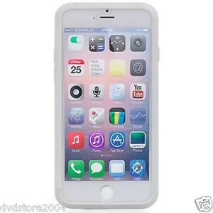 Custodia-WALLET-Cover-BIANCA-FRONTE-TRASPARENTE-per-Apple-iPhone-6-4-7-Gel-Gomma