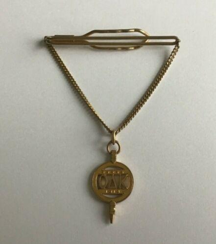 Gold Tone OAK Tack Classic Tie Tac Brushed Gold Tone