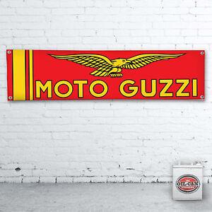 Moto Guzzi Rot Banner Heavy Duty für Werkstatt Mann Höhle Motorrad Garage