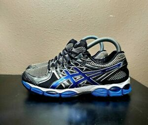Asics-Mens-Gel-Nimbus-14-T241N-Grey-Blue-Running-Shoes-Lace-Up-Low-Top-Size-10