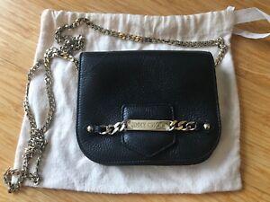 Image Is Loading Jimmy Choo Shadow Metallic Crossbody Bag Black Used