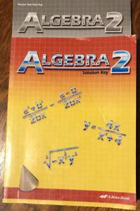 Abeka Algebra 2 Lot Books Solution Key Worktext Test Quiz ...