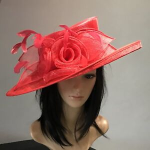 Image Is Loading Nigel Rayment Red Wedding Ascot Hat Mother Of