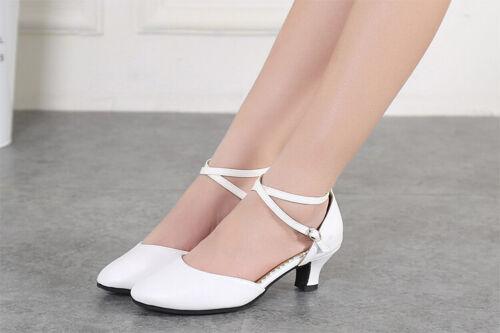 Damen Tanzschuhe Tango Latin Ballsaal Salsa Schuhe Pumps Sandalen High Heels