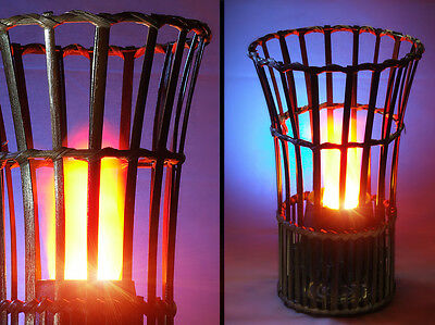 Bamboo Vase Silk Flame Simulated Fire Effect Flaming Torch Light/Lamp/Halloween