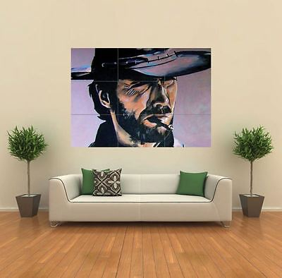 CLINT EASTWOOD SMOKING COWBOY NEW GIANT ART PRINT POSTER PICTURE WALL G119