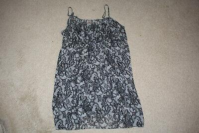 Women's Clothing Nwt Trendy Natori Black/grey Printed Sheer Chemise Slip Size Xl