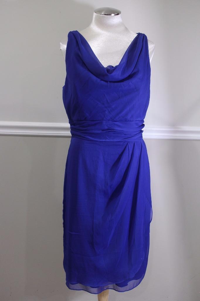 Lela Rose Women's Royal Blue Bridesmaids Dress Size 14 Style LR153 (dr100