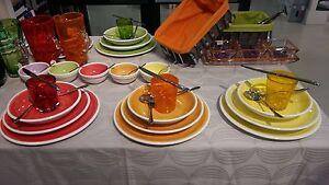 Ceramiche siciliane ruggeri pennellato servizio piatti 18 pezzi