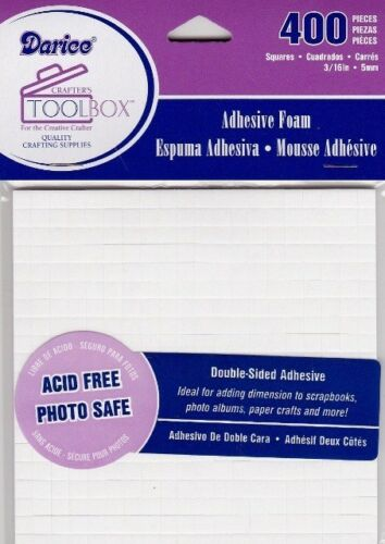 400pc 3D FOAM DOTS Double Sided SQUARE Adhesive Acid Free Photo Safe