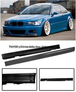 Details About For 99 05 Bmw E46 3 Series 4dr Sedan Euro M Tech M3 Side Skirts Rocker Panels