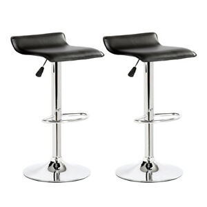 Pleasing Details About Black Adjustable Low Back Hydraulic Lift Bar Stool Barstool Pub Seat Set 2 Pc Camellatalisay Diy Chair Ideas Camellatalisaycom