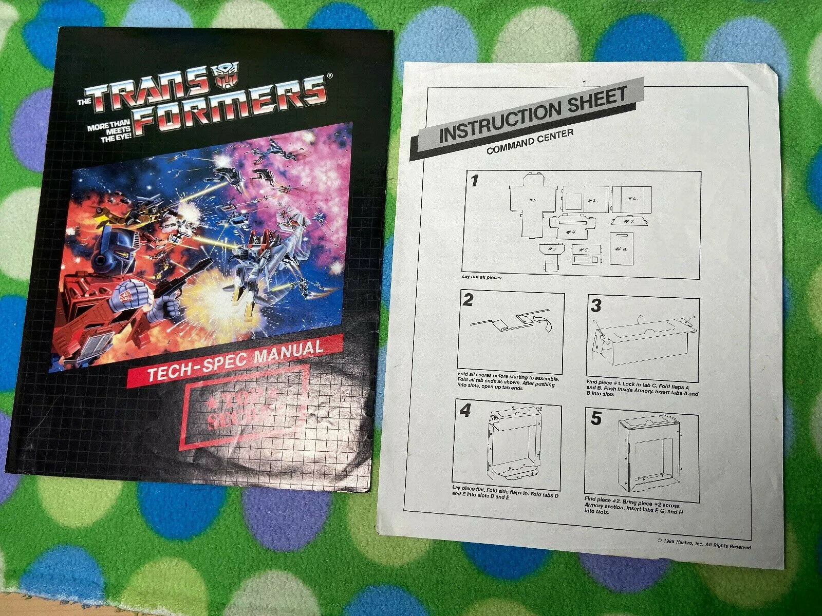 Jahr G1 Transformers Mail-Away S.T.A.R.S. Autobot Command Center Instructions