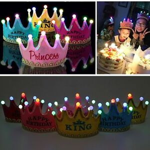 Image Is Loading Prince Princess Crown Birthday Party LED Light Up